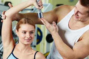 träning i gymmet foto