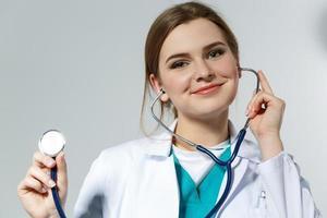 läkare och stetoskop foto