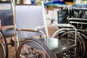 rullstol på sjukhus. foto