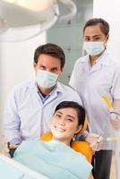 vid tandvård foto