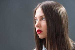 porträtt av tonårsflickor foto