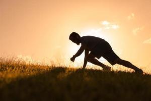 manlig löpare foto