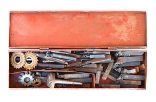 gamla svarvverktyg foto