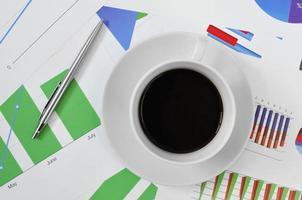 kaffe på kontoret foto