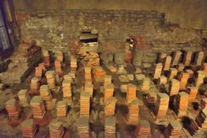 forntida romersk golvvärmesystem foto