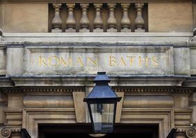 romerska bad i badet foto