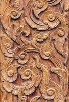 mönster konst av trä snideri. foto