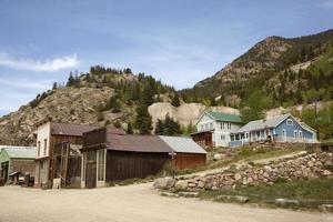 historiska colorado gruvstad av silver plume foto