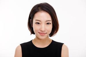 yong ganska asiatisk affärskvinna foto