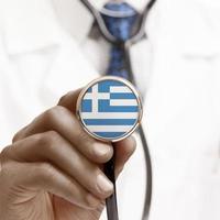 stetoskop med nationell flagg konceptuell serie - hellenisk repu