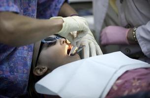 tandläkarbesök foto