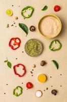 mat för kryddor. foto