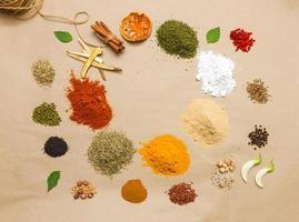 kryddor för hälsa. foto