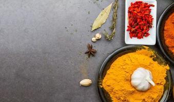 kryddor för mat. foto