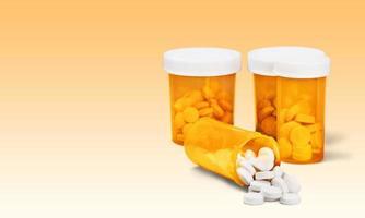 medicin, piller, flaska foto