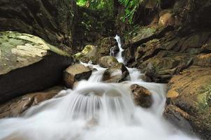 vattenfall i djungeln av Borneo