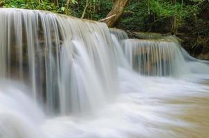vattenfall i djup regnskogsjungel vid nationalparken,