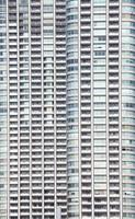 perfekt blått glas höghus företagsbyggnad