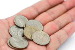 gammalt mynt foto
