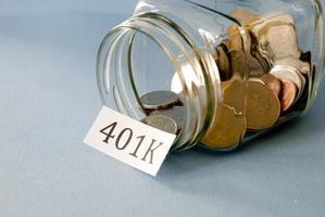besparingar 401k foto