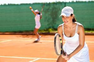 tennis dubblar foto