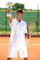 framgångar tennisspelare foto