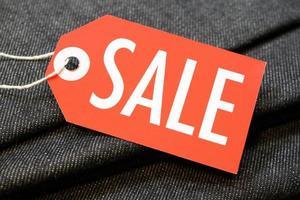 försäljning tagg foto