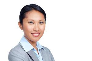 sätta ett vackert ansikte till ditt företags meddelande foto