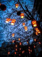 färgglada nätter med kärlek foto
