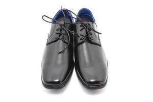 svarta läderskor foto