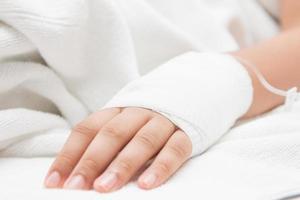 händerna på patienter foto