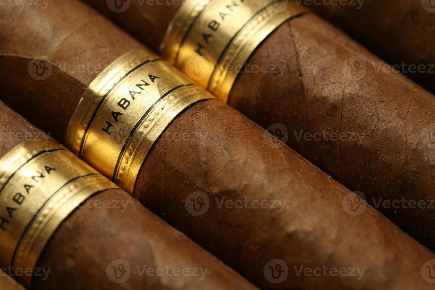 Havana sigaren achtergrondontwerp foto