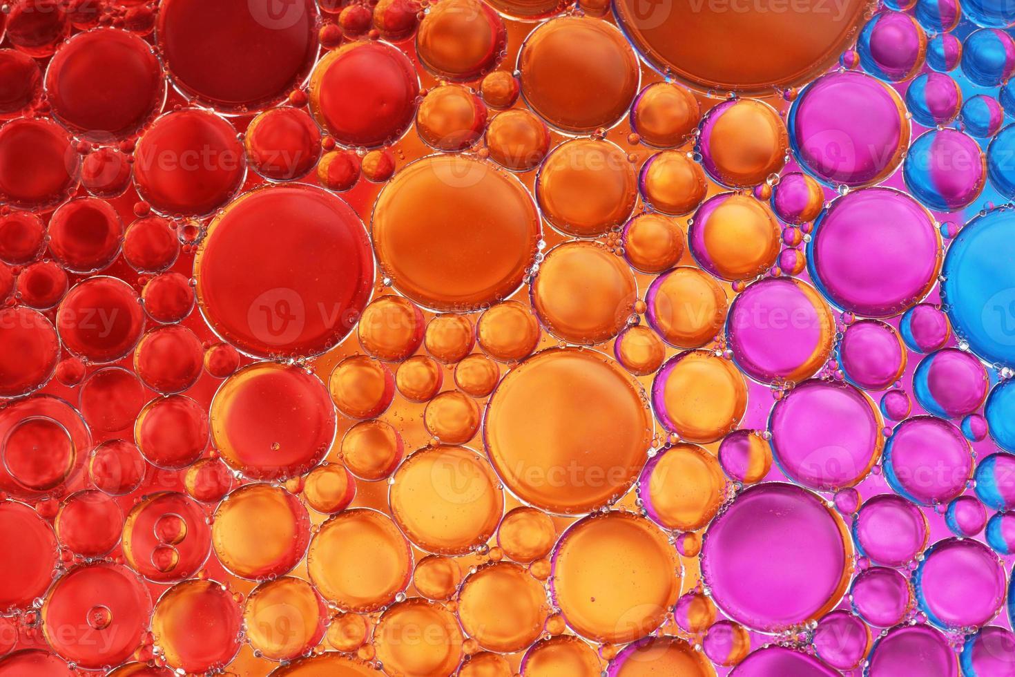 olie en water over kleuren 18 foto
