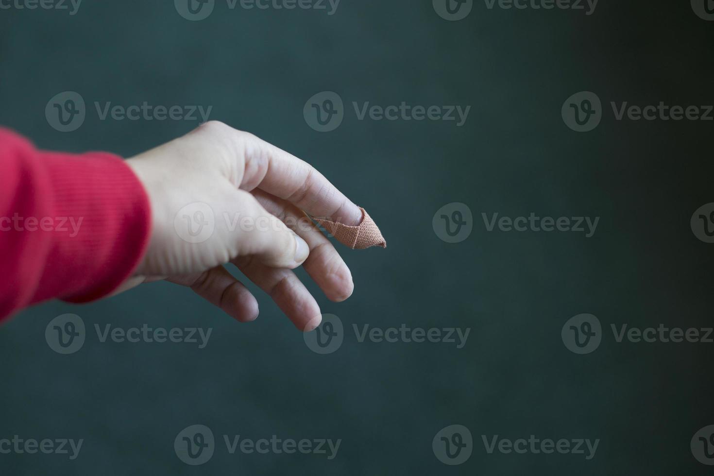gekwetste vinger foto