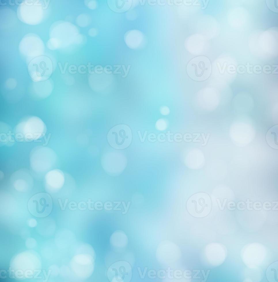 helder blauwe bokeh achtergrond foto