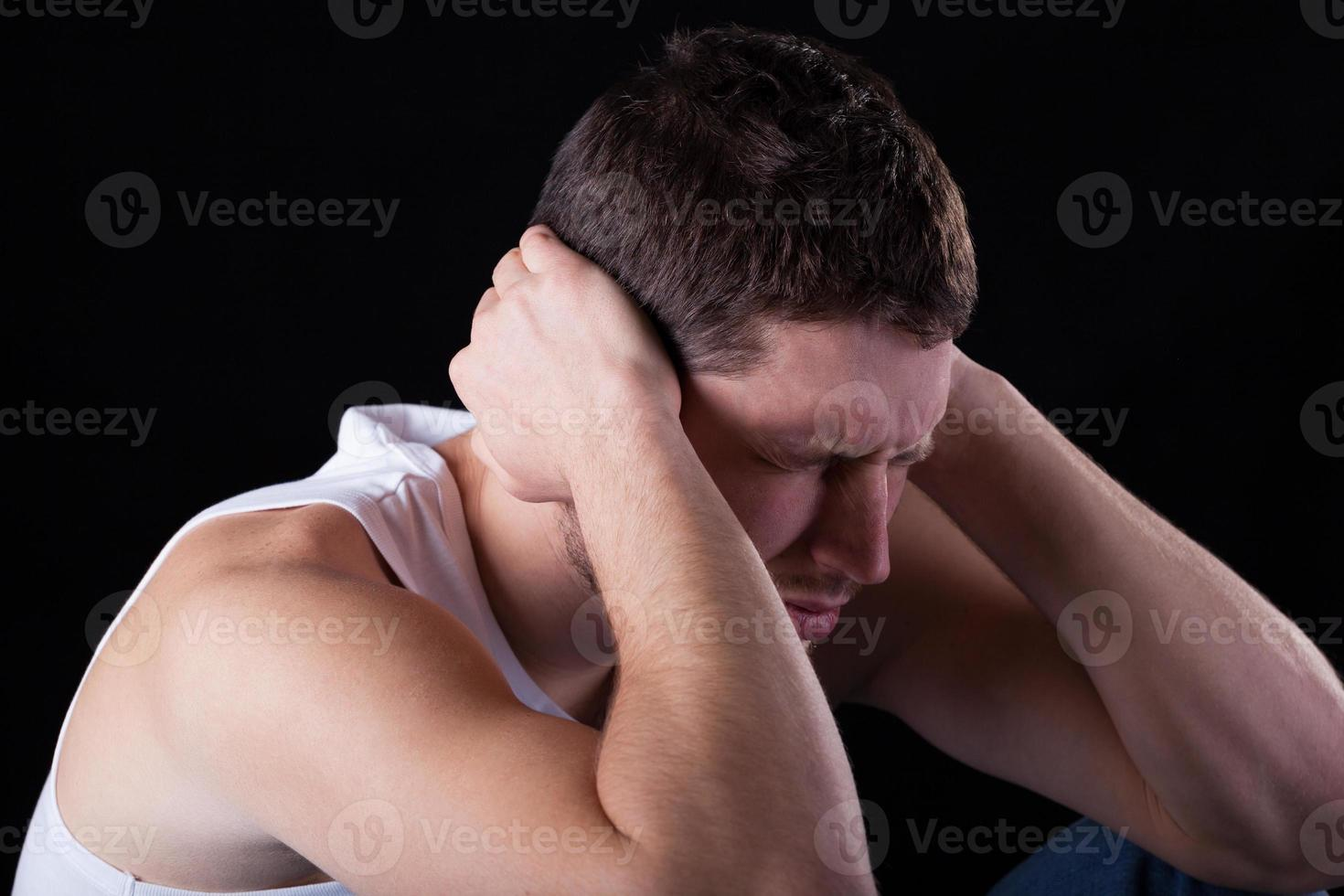man sterke migraine voelen foto