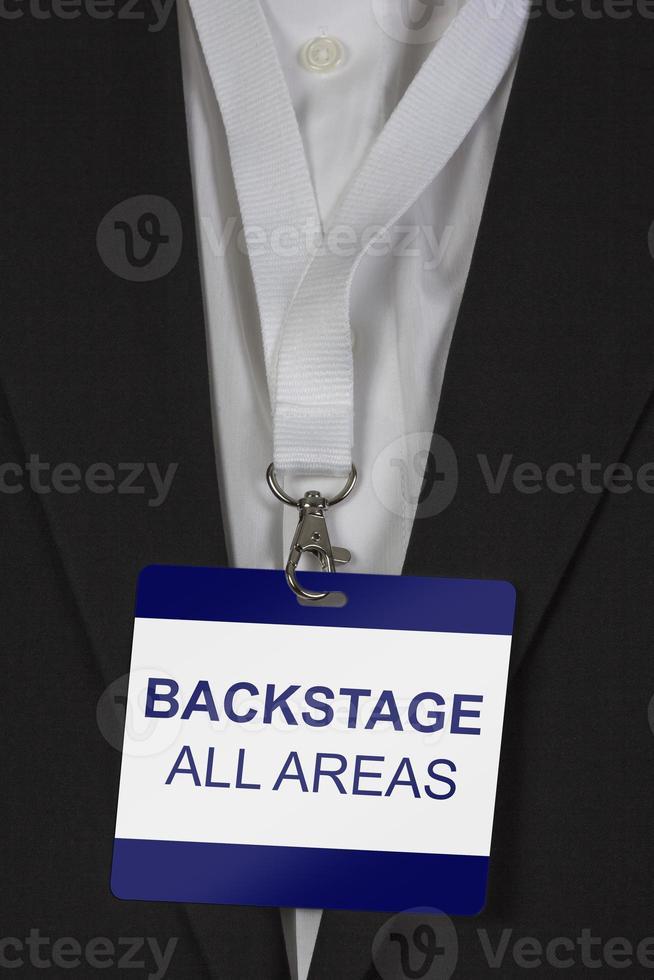 backstage passeren alle gebieden foto