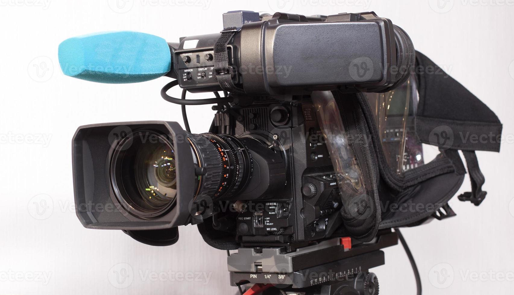 professionele digitale videocamera. foto