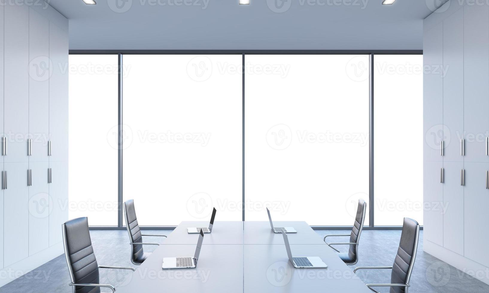 werkplekken of conferentieruimte foto