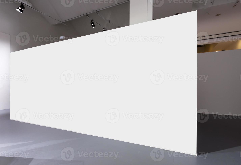 tentoonstelling of groot leeg presentatiebord foto