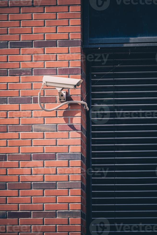 bewakingscamera, bewakingssysteem op kantoorgebouw foto