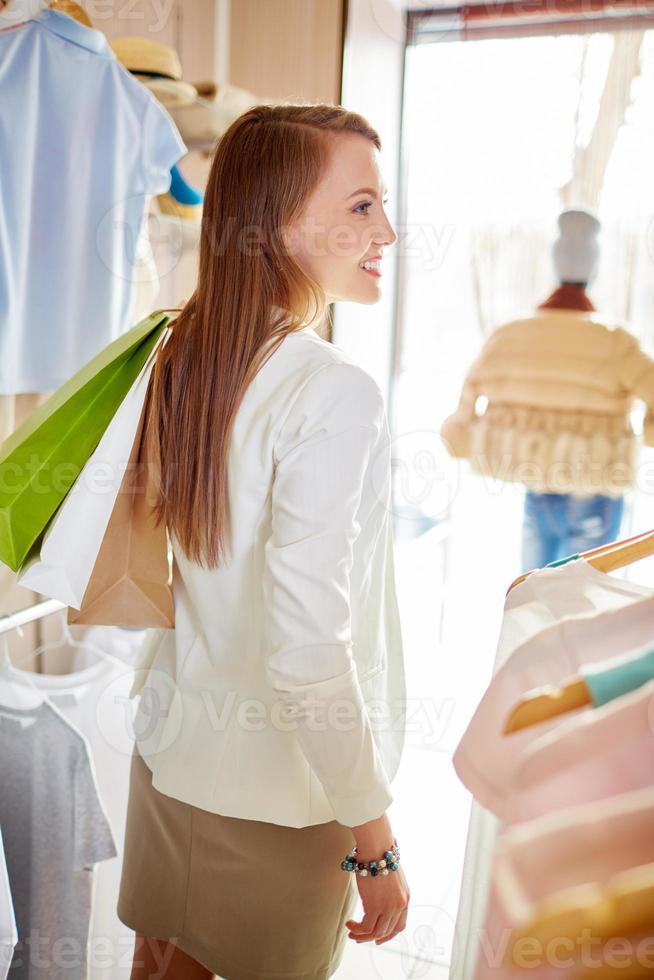 shopper met tassen foto