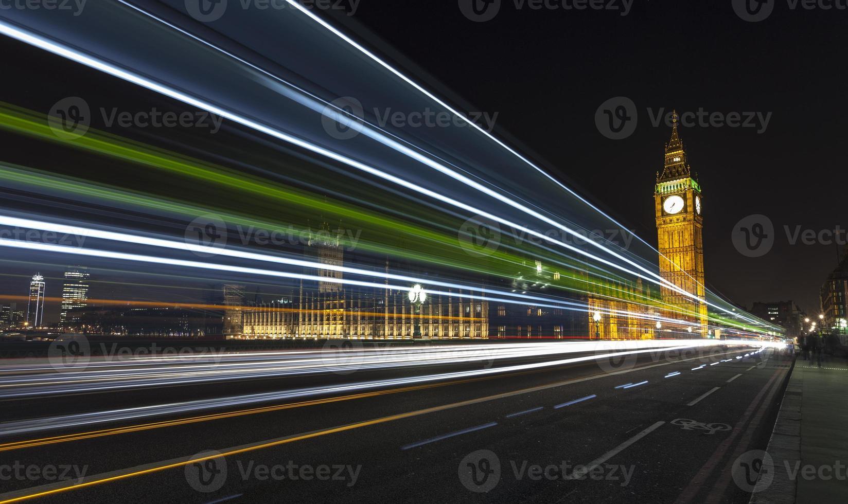 Big Ben 's nachts foto