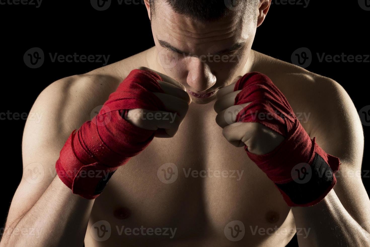 op een kickbokstraining foto