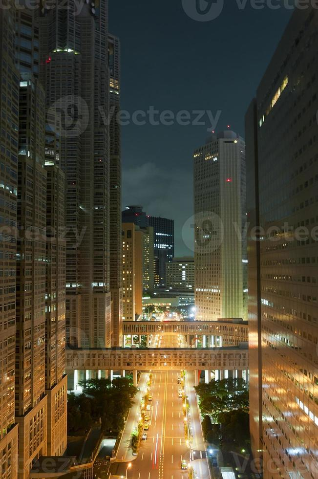 tokyo nachtzicht foto