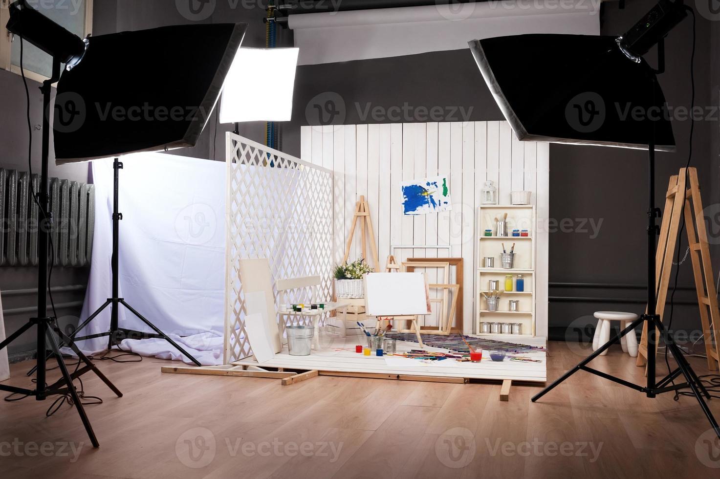 atelier van de kunstenaar foto