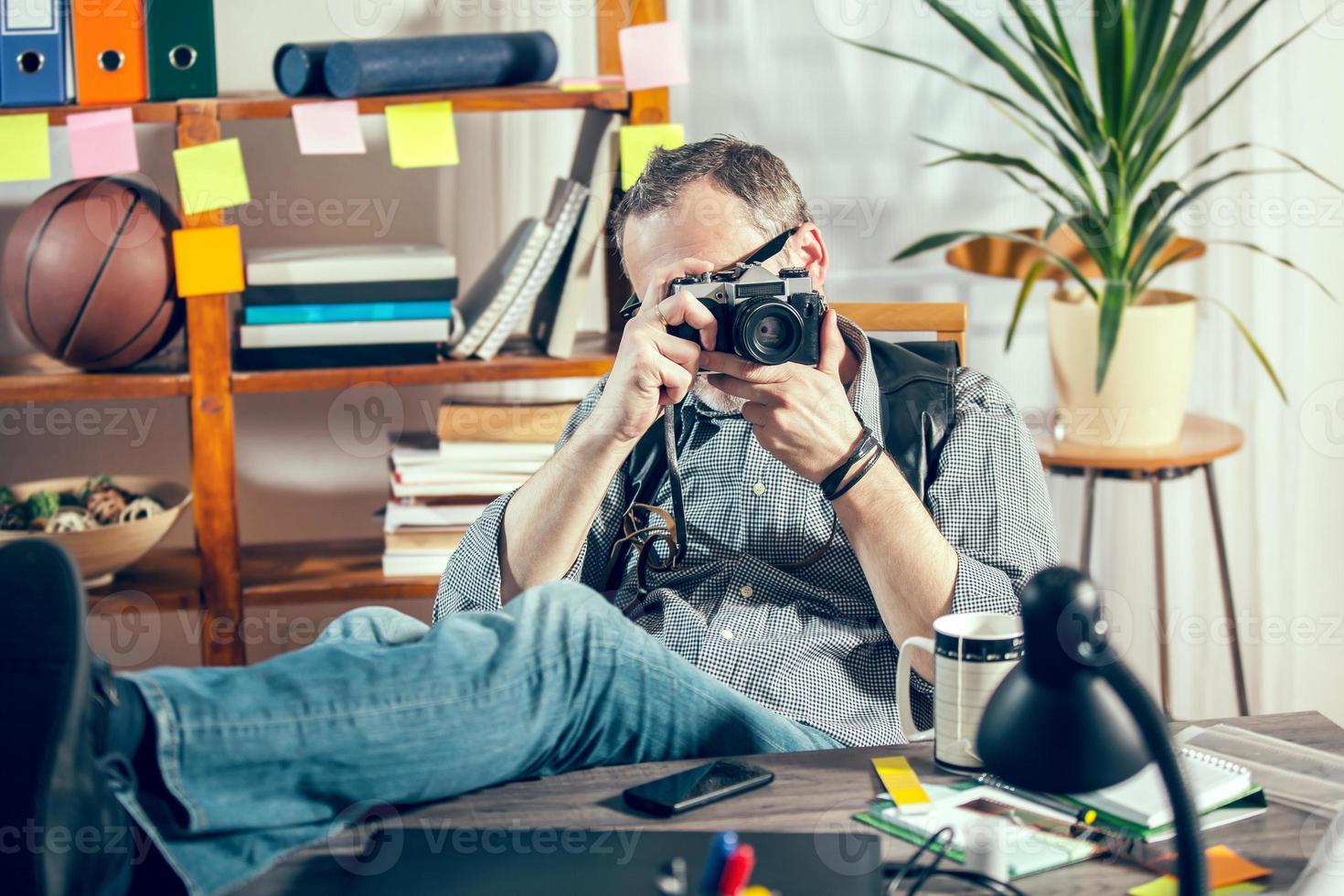 fotograaf aan het werk foto