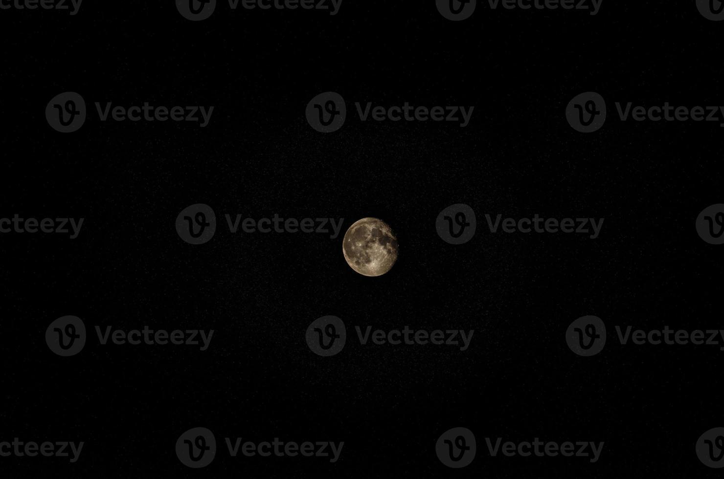 maan met sterren foto