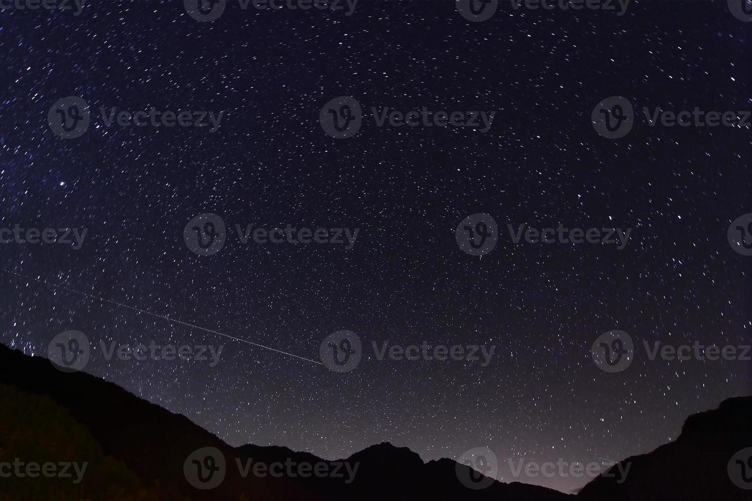 geweldige sterrennacht foto