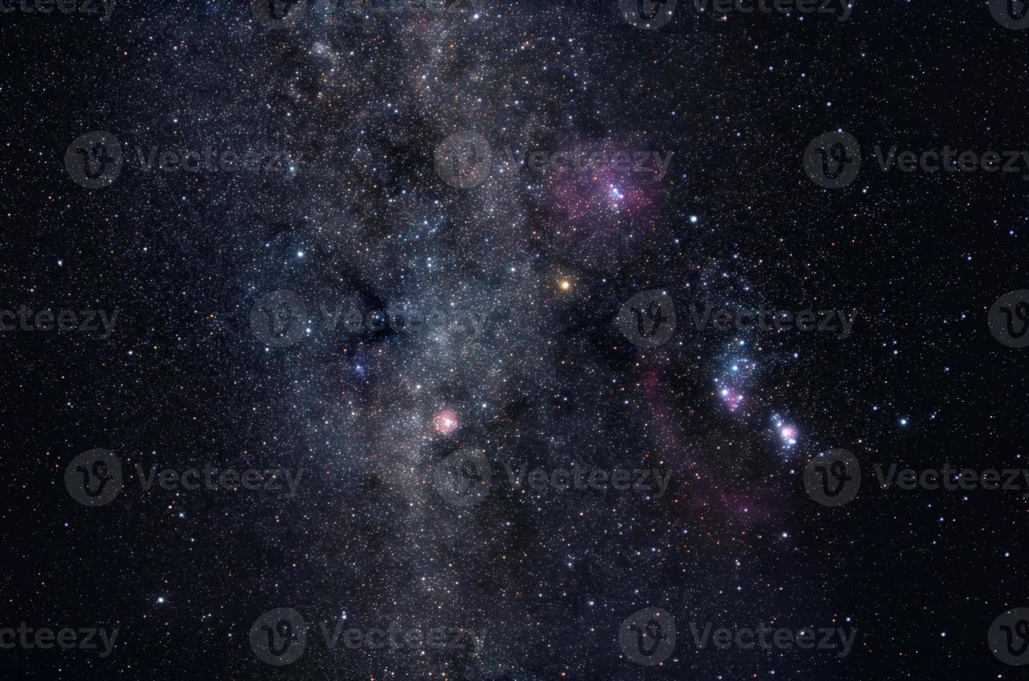 Melkweg ster veld foto